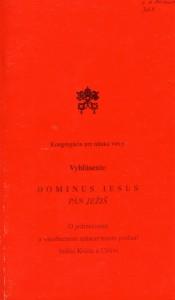 Kongregacia pre nauku viery - Dominus Iesus